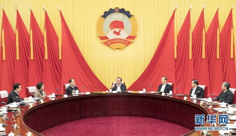 3月28日,全國政協主席俞正聲在北京主持召開政協第十二屆全國委員會第五十八次主席會議並講話。新華社記者 丁海濤 攝