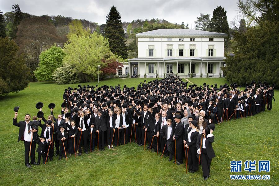 """(外代一線)(1)662名""""卓別林""""聚會瑞士創下世界紀錄"""