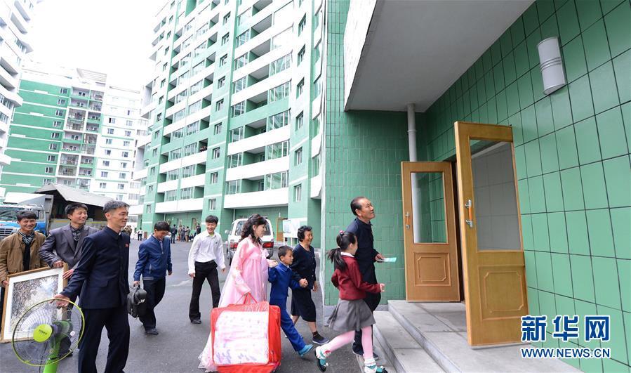 (國際)(1)朝鮮居民遷入黎明大街新居