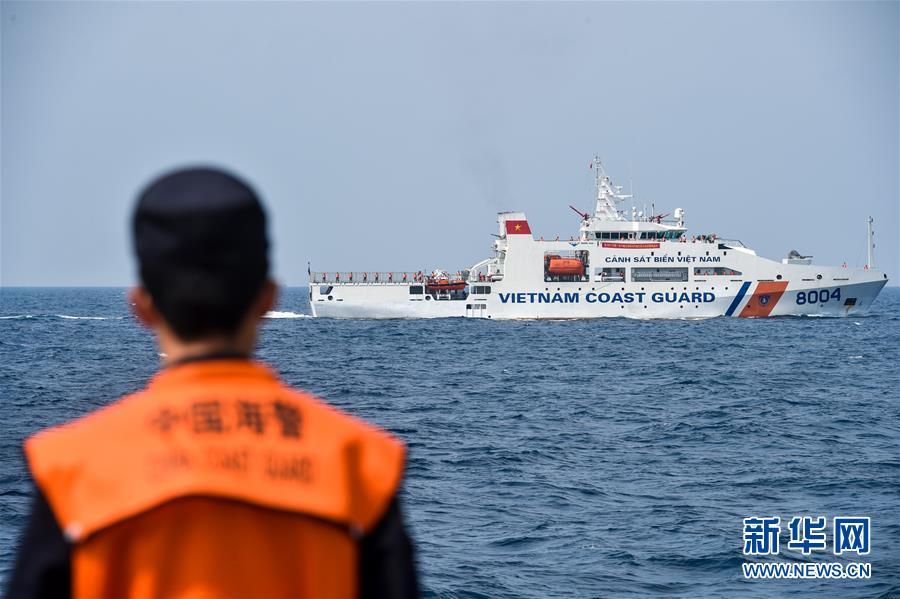 (法治)(1)中越海警舉行2017年首次北部灣共同漁區海上聯合檢查