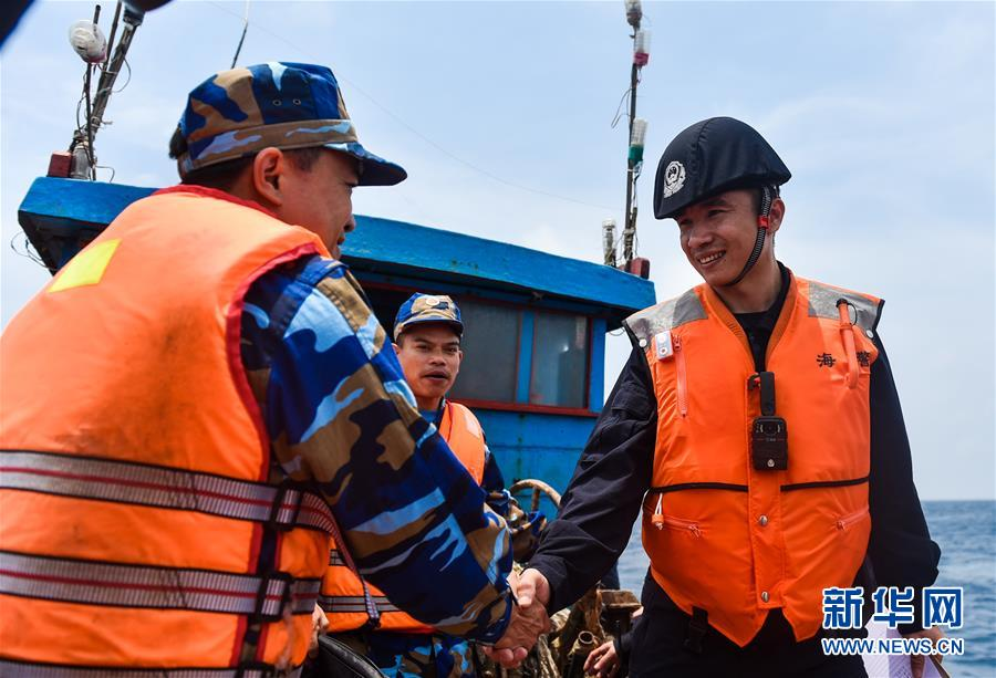 (法治)(4)中越海警舉行2017年首次北部灣共同漁區海上聯合檢查