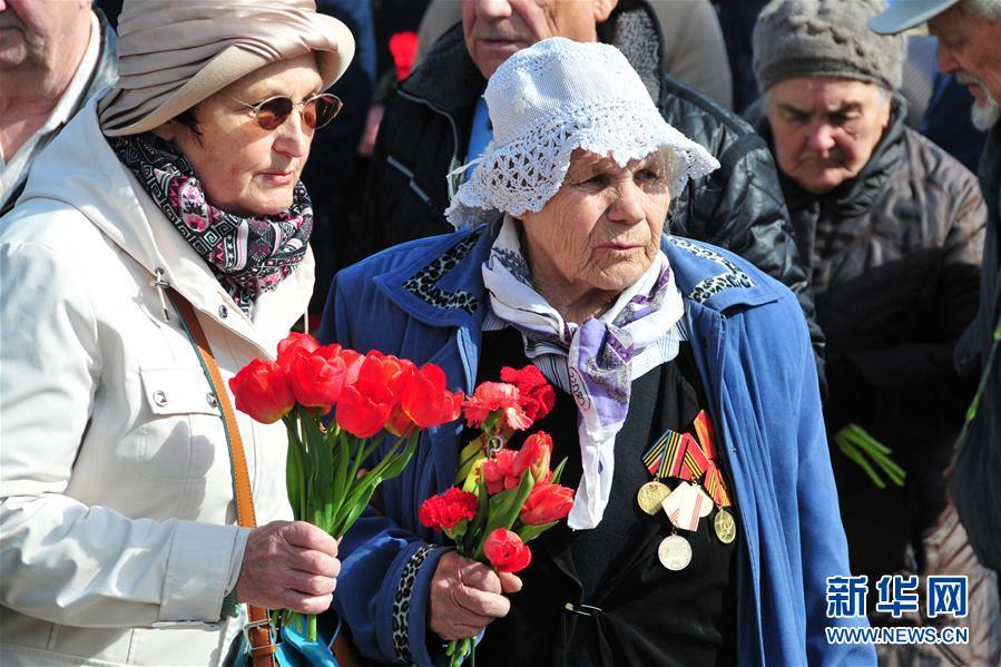 (國際)(1)拉脫維亞紀念衛國戰爭勝利72周年