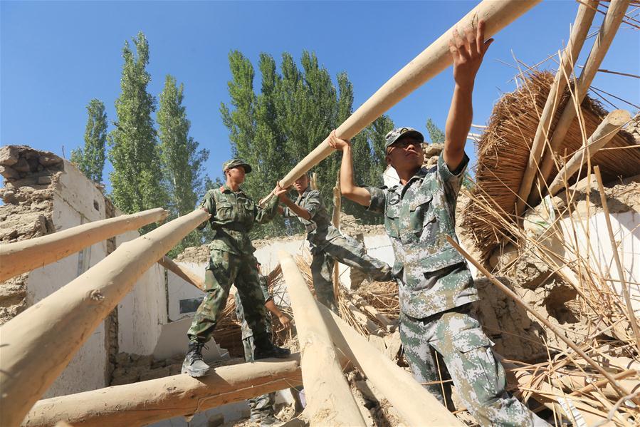 新疆精河县地震救援工作开展有序