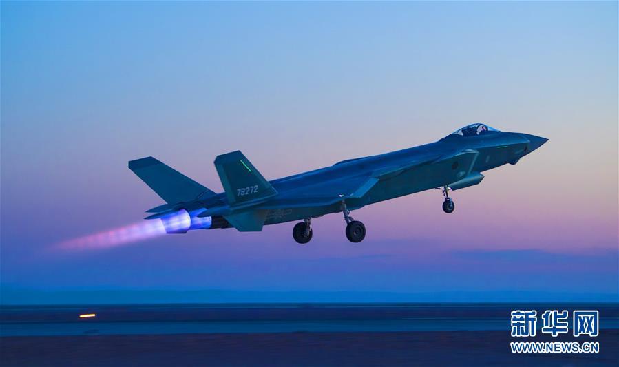 (圖文互動)(1)空軍首支殲-20部隊開展多型新機編隊協同戰術訓練