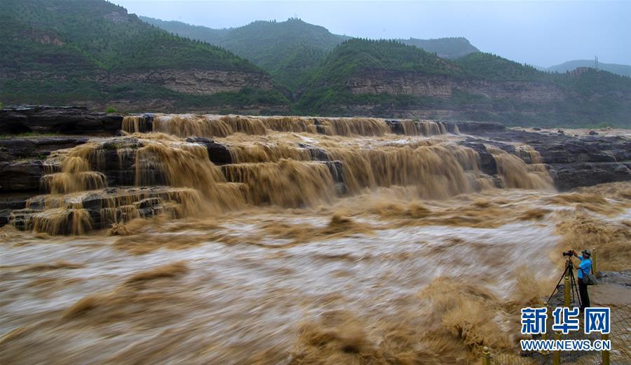 #(環境)(1)黃河壺口瀑布水量增多
