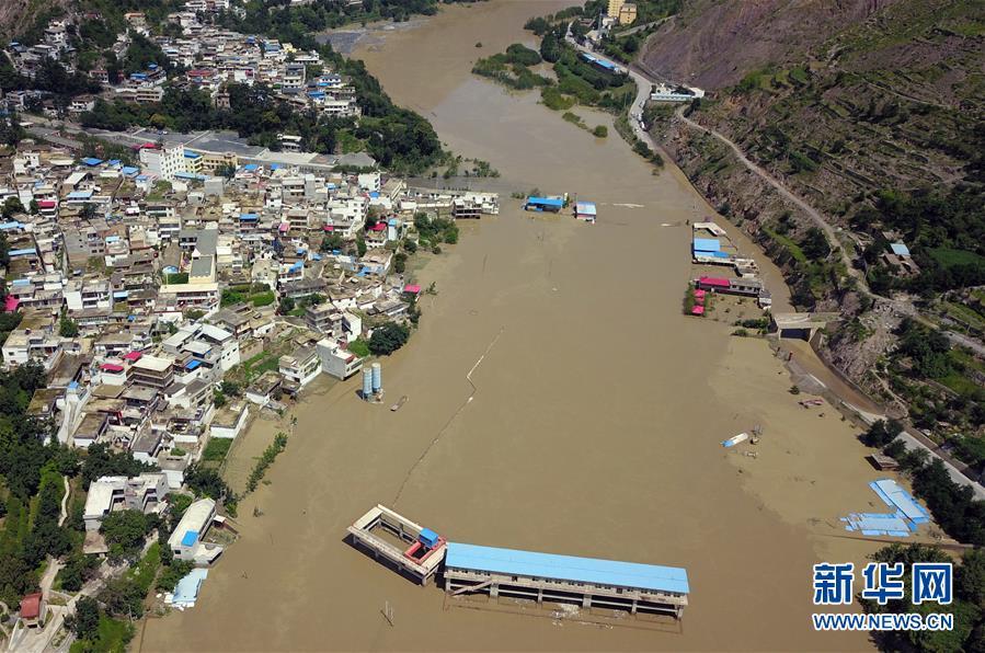 (防汛抗洪)(2)甘肅舟曲滑坡險情正在緊急處置