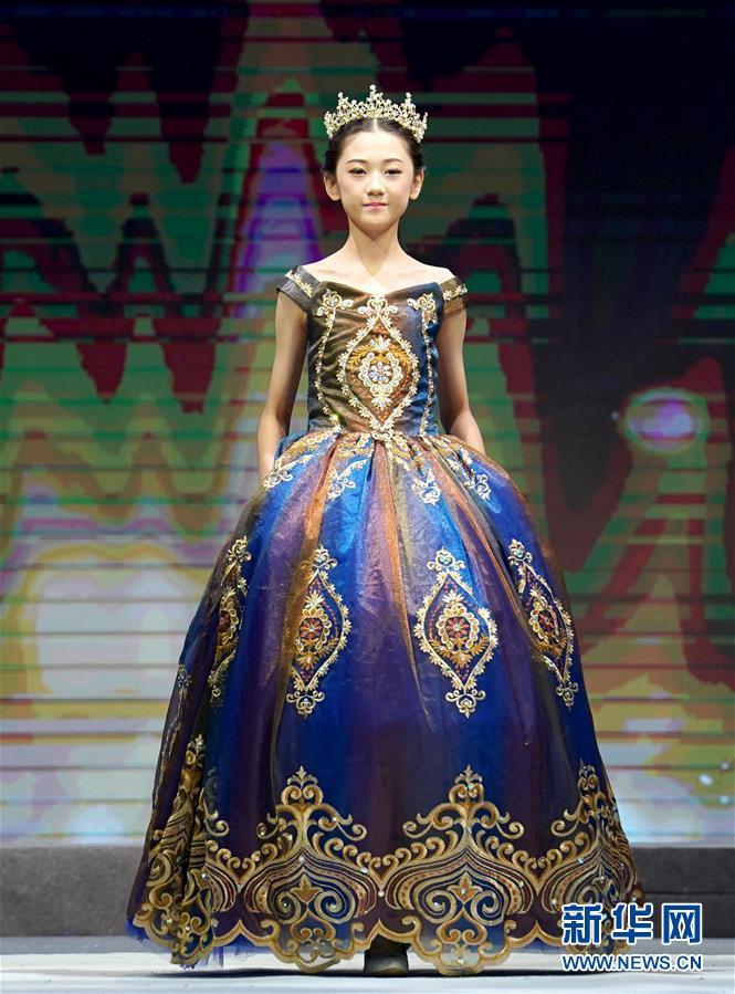 (文化)(1)中國少兒時裝模特大賽在青島落幕