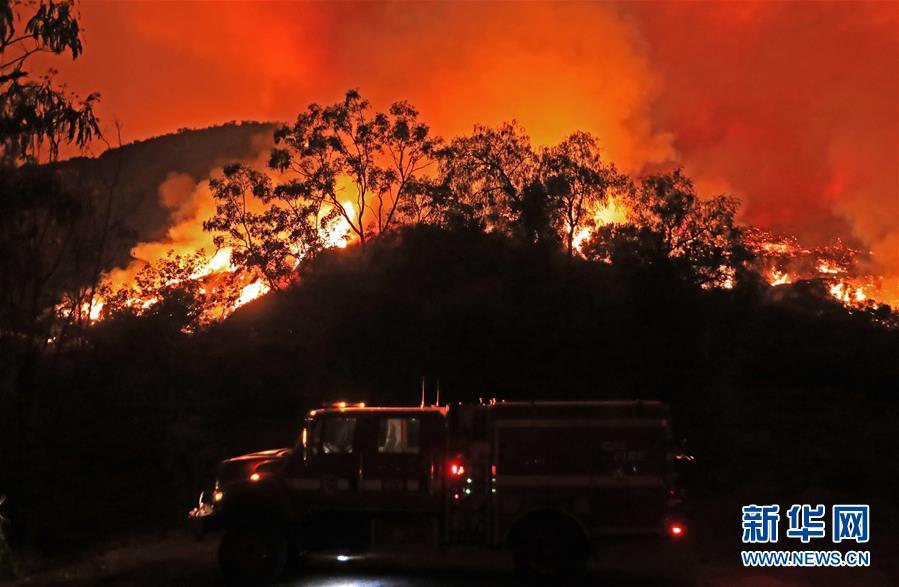 (國際)(2)美國加州山火肆虐