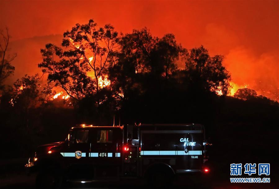 (國際)(9)美國加州山火肆虐