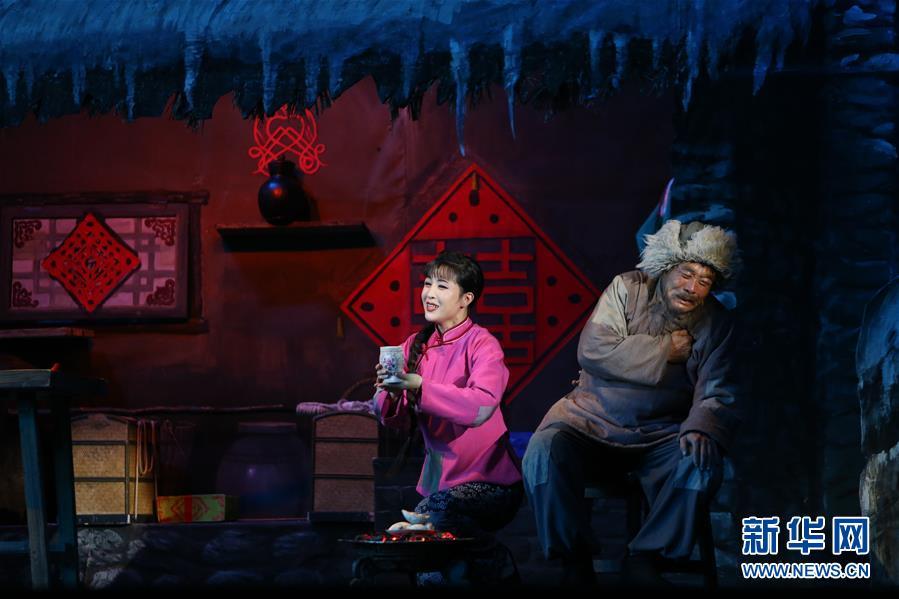 (国际)(1)朝鲜版歌剧《白毛女》在平壤上演