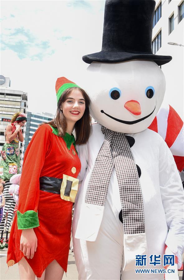 (國際)(3)新西蘭惠靈頓舉行迎聖誕遊行