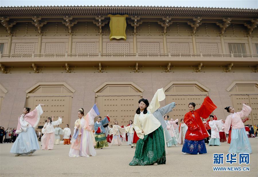 (文化)(2)西安:漢服巡遊展示傳統文化