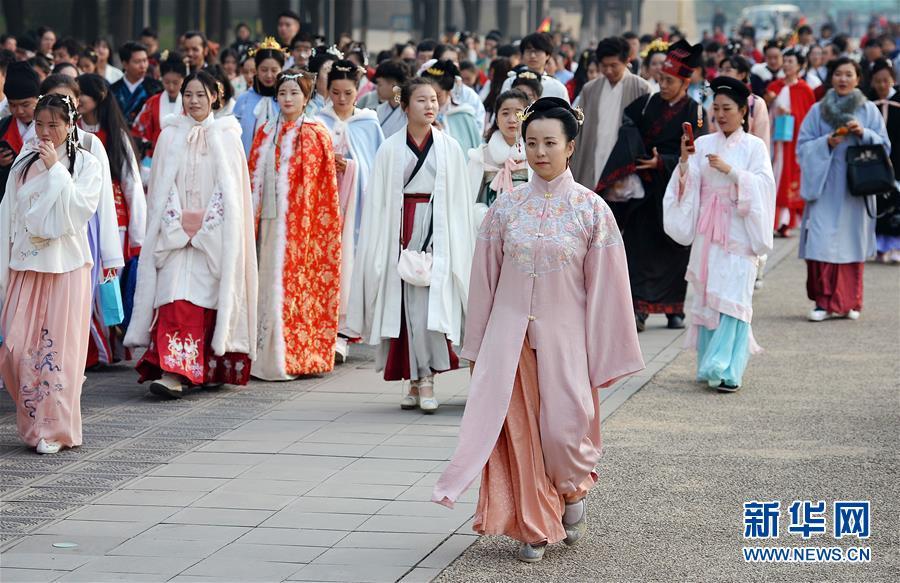 (文化)(3)西安:漢服巡遊展示傳統文化