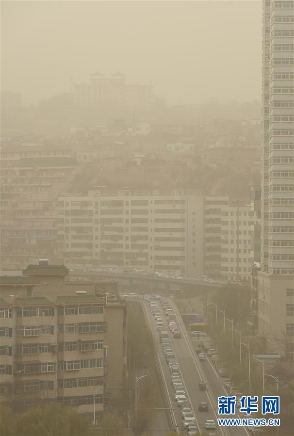 (環境)(3)蘭州出現浮塵天氣