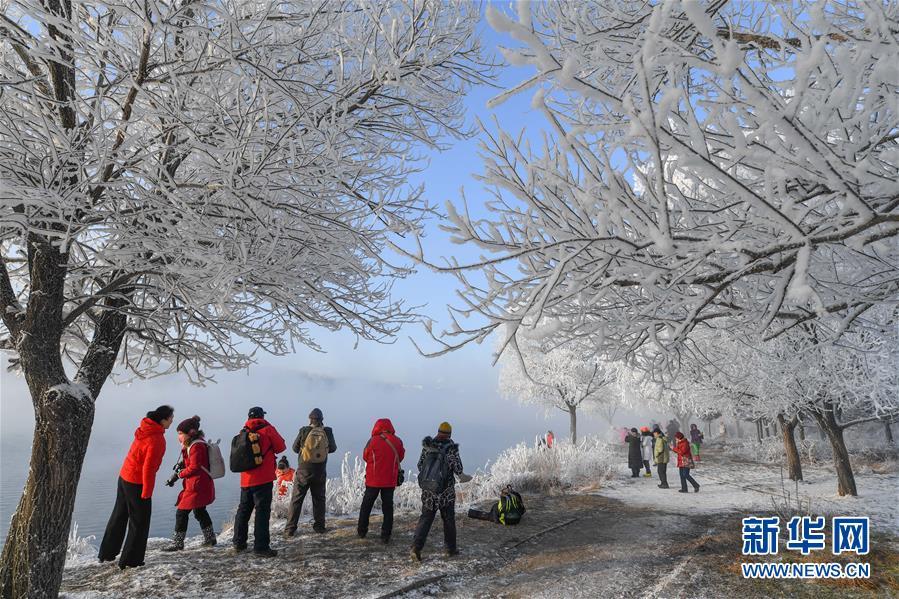 (社會)(1)吉林:霧凇美景
