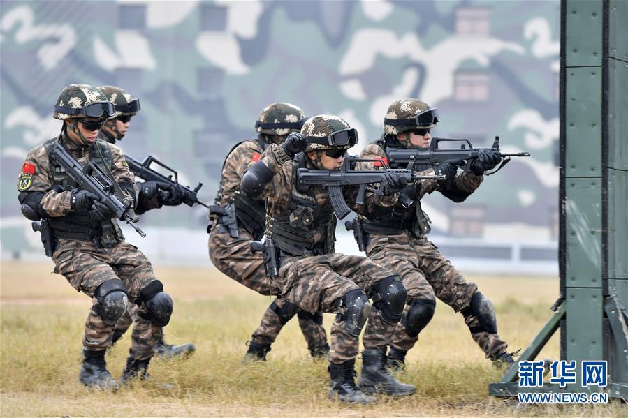 (軍事)(1)福建武警:特戰訓練礪精兵