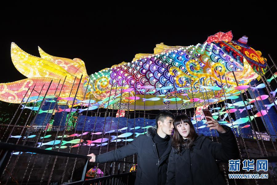 (社會)(5)四川自貢國際恐龍燈會亮燈