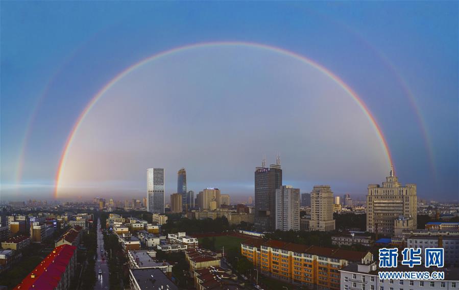 (社會)(1)吉林長春:雨後彩虹