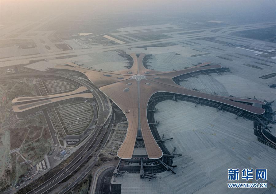 (圖文互動)(1)鳳凰展翅 北京新機場如期竣工
