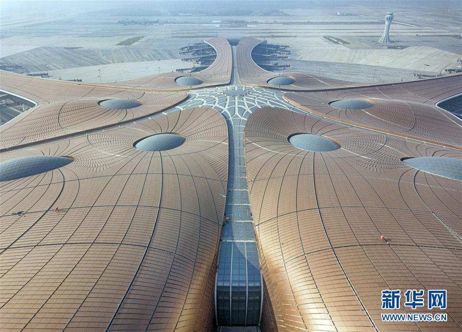 (圖文互動)(3)鳳凰展翅 北京新機場如期竣工