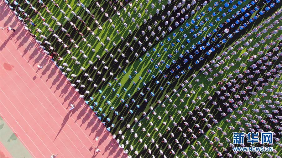 (新華全媒頭條·開學季·圖文互動)(2)新學期是彩色的——各地2019年秋季學期開學典禮掃描