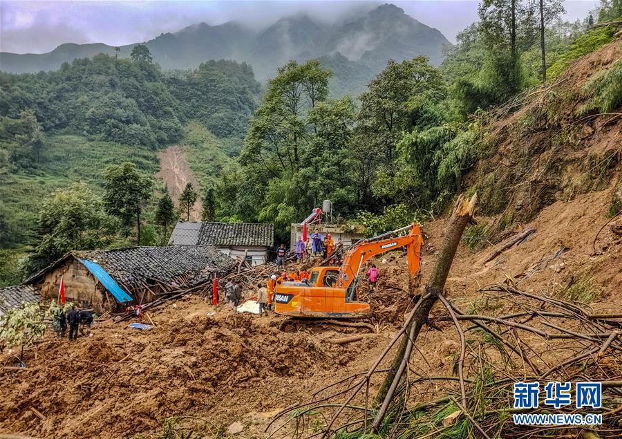 (新華網)(4)雲南巧家縣發生滑坡自然災害致9人失聯