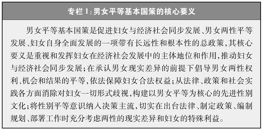 (圖表)[新中國70年婦女事業白皮書]專欄1 男女平等基本國策的核心要義