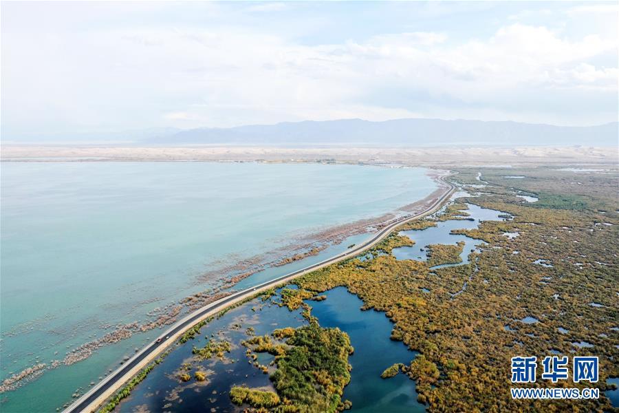 (美麗中國)(1)新疆博斯騰湖畔秋景惹人醉