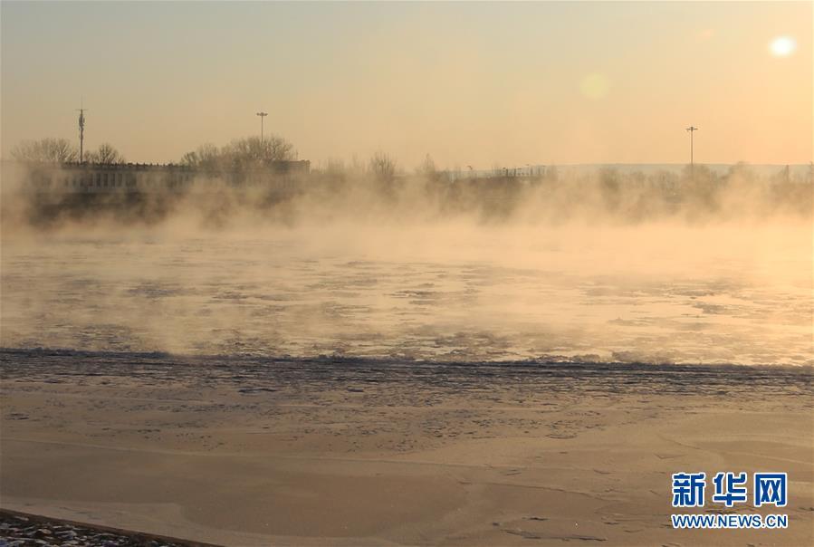 """(環境)(3)黃河三盛公水利樞紐庫區出現""""水煮黃河""""景觀"""