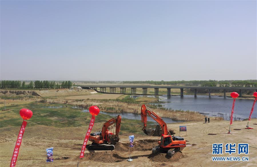 (圖文互動)(1)內蒙古岱海生態應急補水工程開工 遏制湖面萎縮改善水質