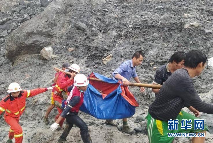 (國際)(6)緬甸北部礦區發生坍塌事故至少96人死亡