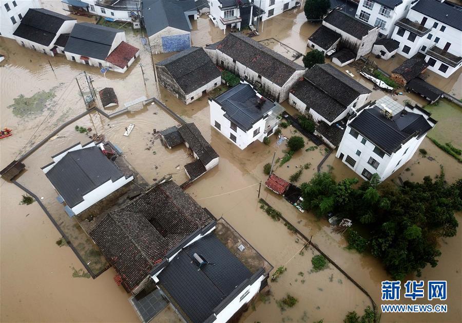 #(環境)(2)安徽黃山:暴雨引發洪澇災害 被困群眾及時轉移