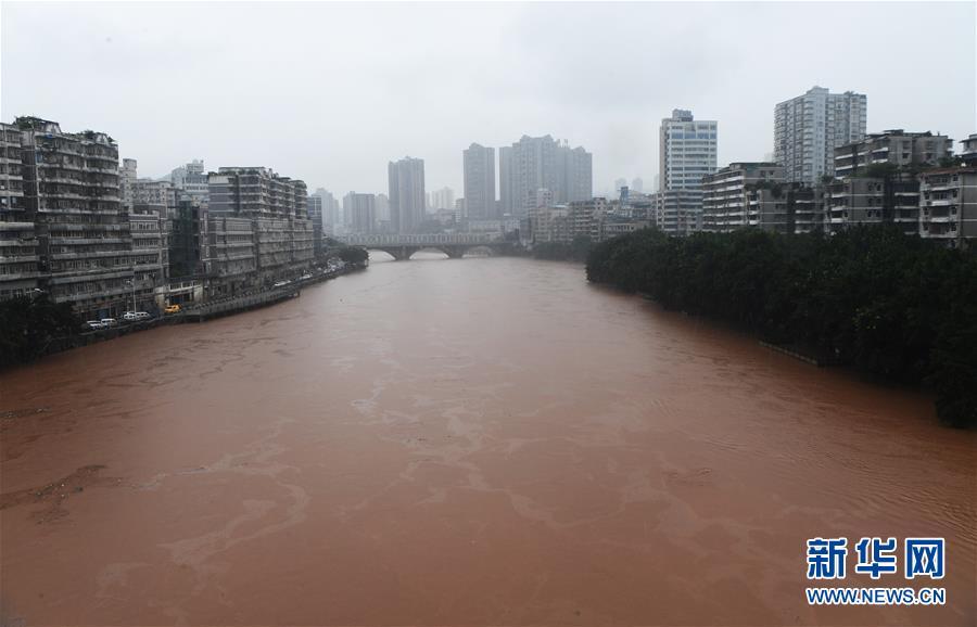 (防汛抗洪)(1)重慶綦江迎來今夏第四次洪峰
