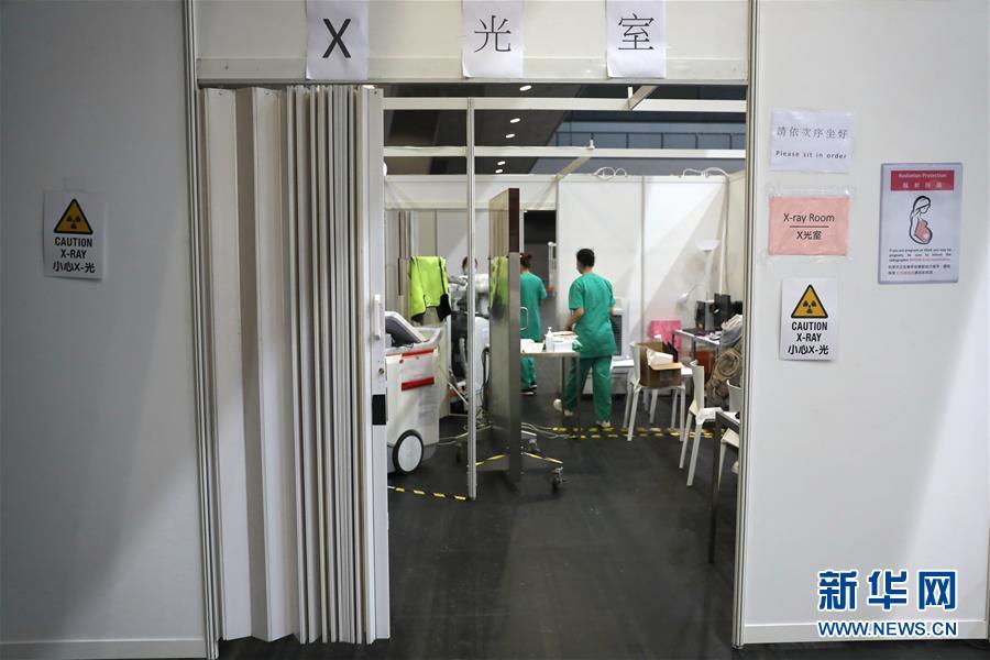 """(图文互动)(3)特写:探访香港""""方舱医院"""""""