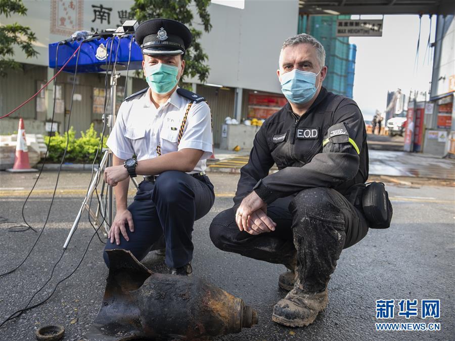 (港澳臺·香港故事·圖文互動)(3)用手觸摸二戰炸彈的人——訪香港警方拆彈專家
