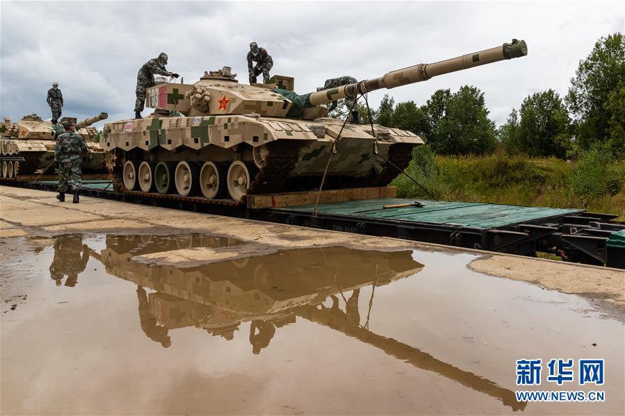 """(國際)(3)我軍赴俄參加""""國際軍事比賽-2020""""裝備運抵比賽場地"""