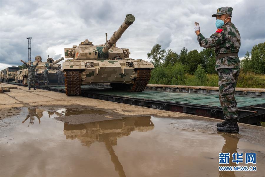 """(國際)(4)我軍赴俄參加""""國際軍事比賽-2020""""裝備運抵比賽場地"""