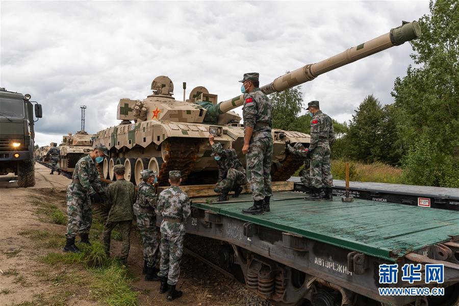 """(國際)(5)我軍赴俄參加""""國際軍事比賽-2020""""裝備運抵比賽場地"""