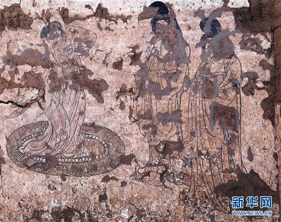 (圖文互動)(3)陜西:唐墓壁畫修復再現唐代生活場景