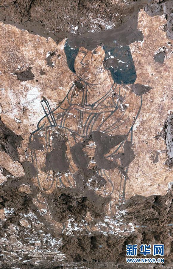(圖文互動)(5)陜西:唐墓壁畫修復再現唐代生活場景
