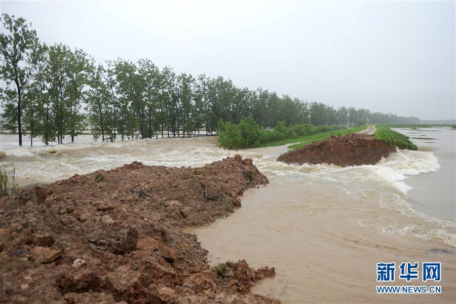 (防汛抗洪·圖文互動)(2)安徽滁河實施爆破泄洪 啟用兩處蓄洪區