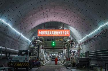 南京:過江通道施工忙