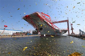 我國第二艘航空母艦下水