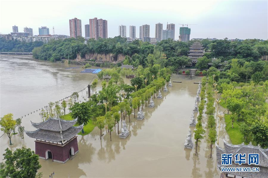 (防汛抗洪)(1)重慶潼南迎來過境洪水