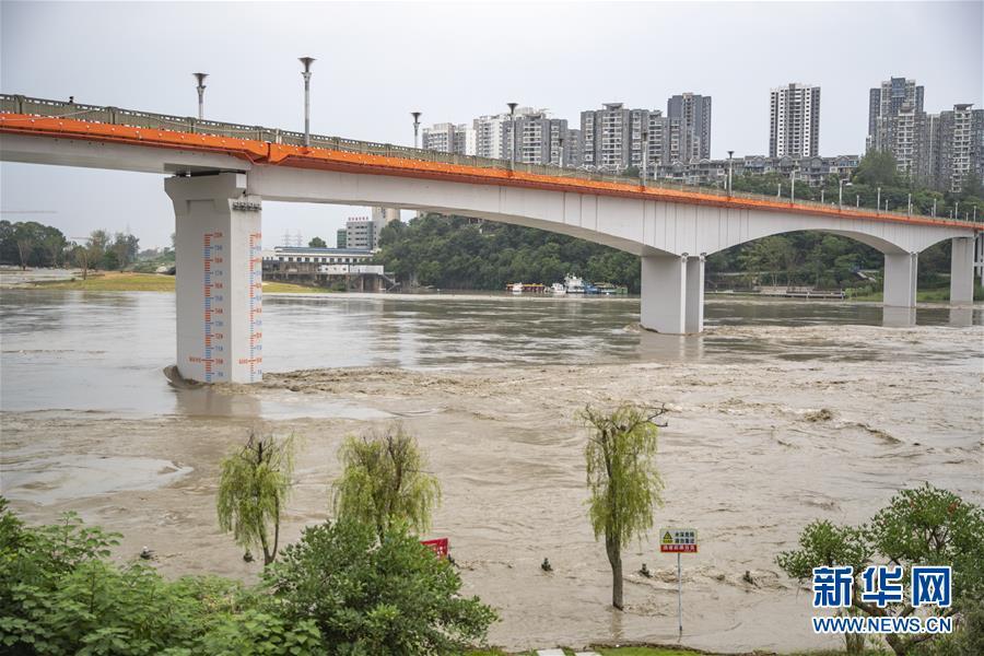 (防汛抗洪)(2)重慶潼南迎來過境洪水