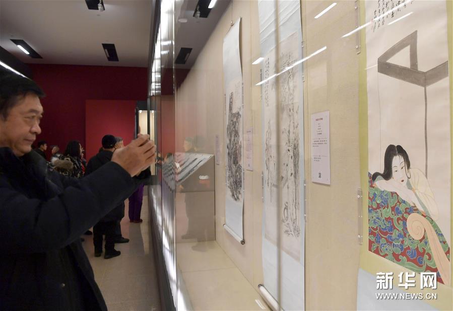 """(文化)(4)国博举办""""张大千艺术展"""""""