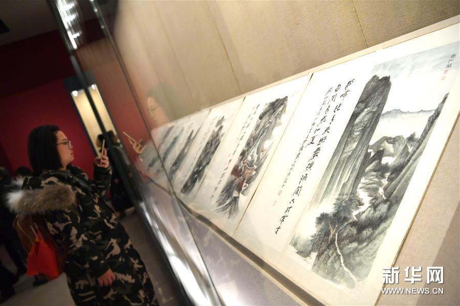 """(文化)(5)国博举办""""张大千艺术展"""""""