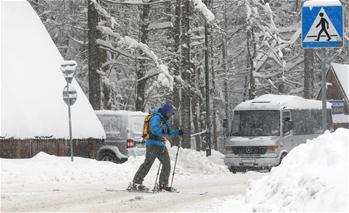 東歐多地降雪