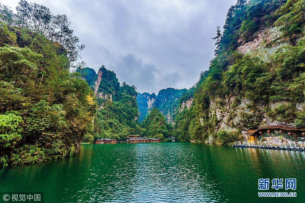 湖南省张家界市宝峰湖风景区,宝峰湖风光.(图片来源:视觉中国)