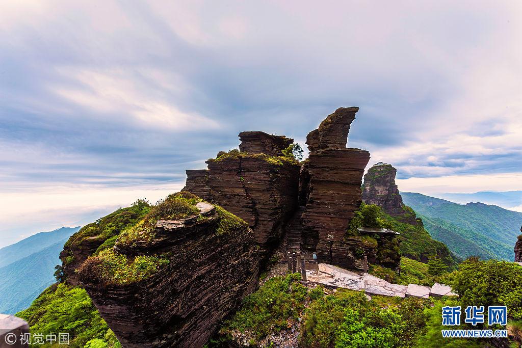贵州铜仁 梵净山风景区 梵净山风光.(图片来源:视觉中国)